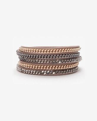 Vita Fede Capri Leather Wrap Chain Bracelet