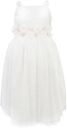 Jayne Copeland Girls Dress, Girls Rosette Flower Girl Dress