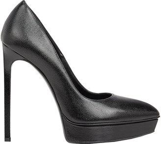 Saint Laurent Women's Janis Platform Pumps-BLACK $795 thestylecure.com