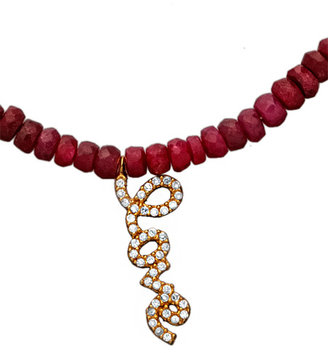 Max & Chloe Signature Red Beaded Love Pendant Necklace