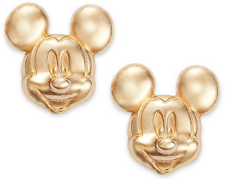 Disney Children's Earrings, 14k Gold Mickey Mouse 3D Stud Earrings