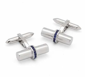 Aspinal of London Silky Barrel Gemset Cufflinks