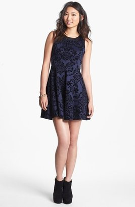 Lush Jacquard Skater Dress (Juniors) (Online Only)