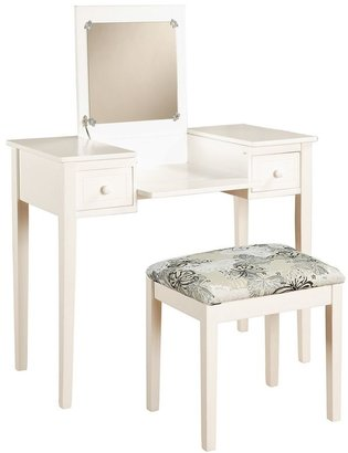 Linon Butterfly 2-pc. White Vanity Set