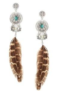 Asos Feather Dreamcatcher Earrings - Multi