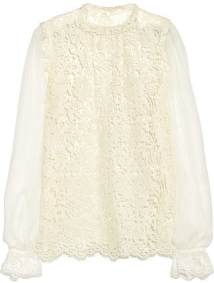 Dolce & Gabbana Contrast lace top