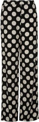 Topshop Spot Print Straight Trousers