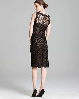 Tadashi Shoji Dress - Sleeveless Mixed Lace