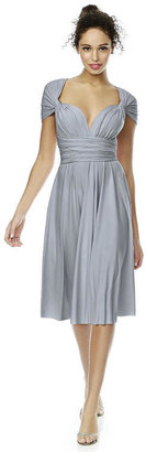 Dessy Collection - TWIST1 Dress In Platinum $154 thestylecure.com
