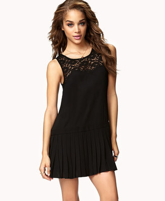 Forever 21 Lace-Paneled Drop Waist Dress