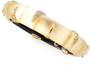 Alexis Bittar Small Stripe Lucite Bracelet, Golden