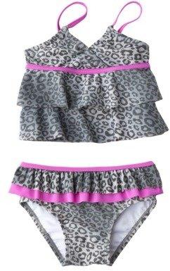 Circo Infant Toddler Girls' Leopard Print Tankini Swimsuit Set