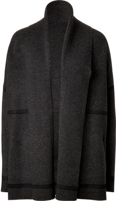 Vince Wool-Cashmere Cardigan in Carbon