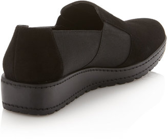 Stuart Weitzman Walking Low Wedge Slip-On, Black