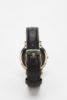 Urban Outfitters On The Map Leather Watch