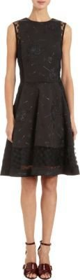 Thakoon Embroidered Mesh Lace Trimmed Sleeveless Dress.