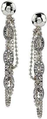 Belle Noel by Kim Kardashian Nugget and Pave Oval Chain Earrings