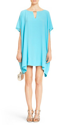 Diane von Furstenberg Beoncia Draped Dress In Blue Lagoon