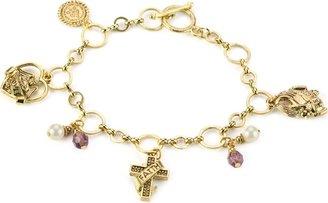 LIBRARY The Vatican Collection Faith Love and Joy Charm Bracelet