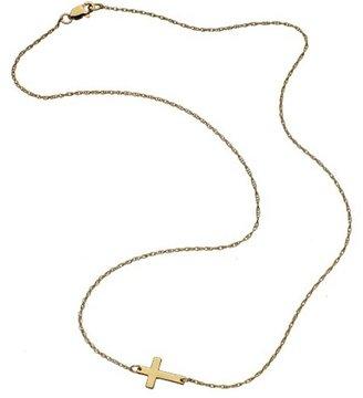 Jennifer Zeuner Jewelry Mini Horizontal Cross Necklace