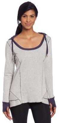 Calvin Klein Women's Ruffle Back Hooded Yoga Top