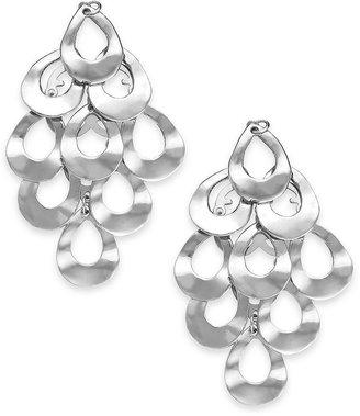 Alfani Silver-Tone Teardrop Kite Clip Earrings