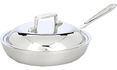 """All-Clad d5 Brushed 9"""" French Skillet With Domed Lid"""