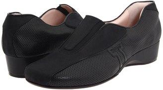Taryn Rose Keira (Black Soft Nappa/Patent) - Footwear