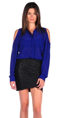 RD Style Shirt with Cold Shoulder