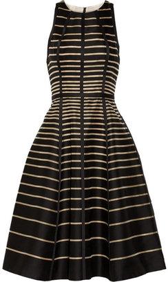 Lela Rose Striped cotton dress