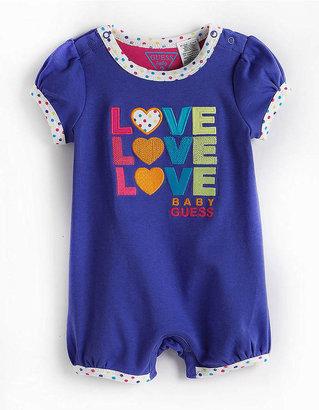 GUESS Newborn Girls 0-9 Months Love Romper