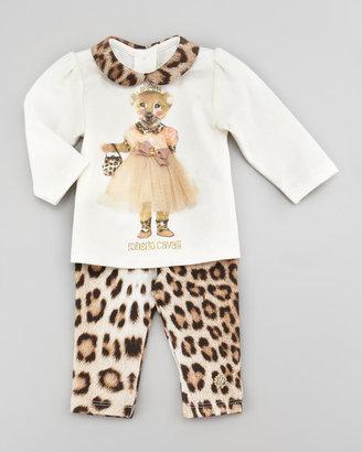 Roberto Cavalli Peter Pan-Collar Tiger Tee, 12-24 Months