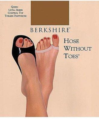 Berkshire Queen Ultra Sheer Control Top Toeless Pantyhose Panty Hose