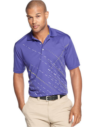 PGA TOUR PRO SERIES Golf Shirt, Slash Print Performance Polo
