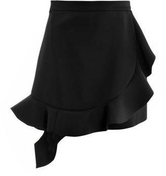 J.W.Anderson Ruffled neoprene skirt
