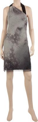 Max Studio Crinkle Silk Chiffon Halter Dress