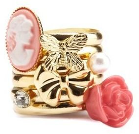 Charlotte Russe Whimsical Stacked Ring Set