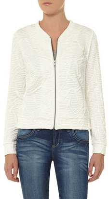 Dorothy Perkins DP Collection ivory quilted bomber jacket