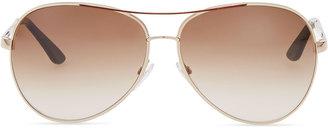 Tom Ford Classic Aviator Sunglasses, Rose Gold