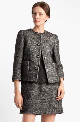 Dolce & Gabbana Collarless Tweed Jacket