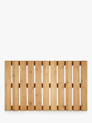 John Lewis & Partners Rubberised Bamboo Bathroom Duckboard, Natural