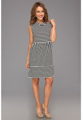 Christin Michaels Carry Dress (Black/Ivory) - Apparel