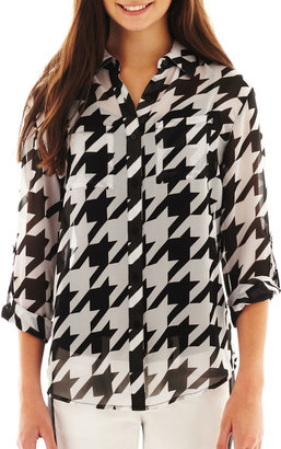 JCPenney Decree Long-Sleeve Button-Front Shirt