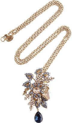 Swarovski Bijoux Heart Moritz 24-karat gold-plated crystal necklace