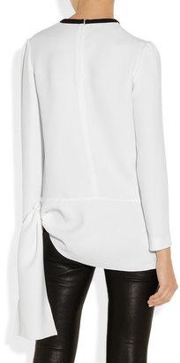 Miu Miu Asymmetric cady blouse