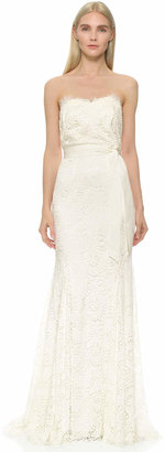 Theia Sweetheart Strapless Lace Gown $1,495 thestylecure.com