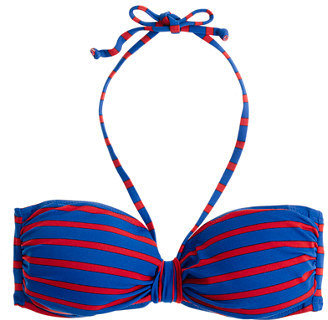 J.Crew Deck-stripe loop-front bandeau top