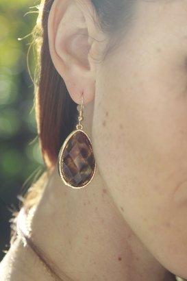 BB B&B Leopard Teardrop Earrings