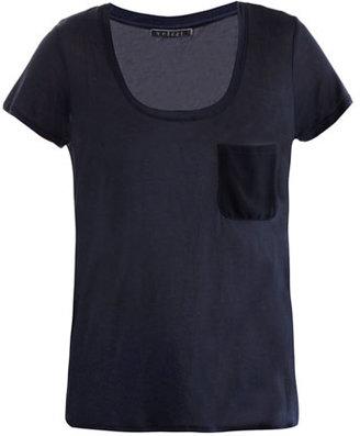 Velvet Contrast panel T-shirt