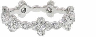 Cathy Waterman Flower Marquise Band Ring - Platinum